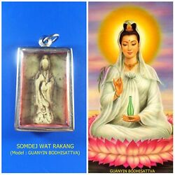 Antique Rare! TOP AMULET of THAILAND (of ASIA) Guanyin Buddha Statue Pendant #04