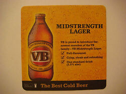Beer Coaster Carlton And United Victoria Bitter Vb Midstrength Lager Australia