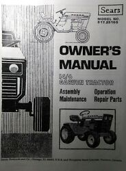 Sears Suburban 14/6 Garden Tractor And Engine Owner Parts And Service 2 Manuals