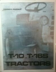 Homelite T-10 12 15 16 Garden Tractor And Dozer Plow Imp Owner And Parts 3 Manual S