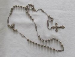 Antique Art Nouveau 19thc French Rosary Rosario Sterling Silver Filigree Art