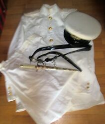 Amazing Vintage Greek Hellenic Military Officer Canted Summer Full Uniform
