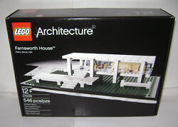 New 21009 Lego Architecture Farnsworth House Building Toy Sealed Box Retired A
