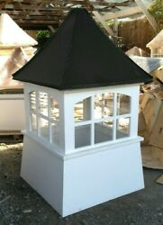 76and039and039hx42and039w Large Vinyl Window Cupola Beautiful High Qualityblack Aluminum Roof