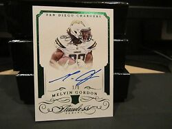 Panini Flawless Emerald Rookie On Card Autograph Chargers Melvin Gordon 1/5 2015
