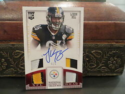 National Treasures Autograph Nfl Gear Rookie Steelers Leand039veon Bell 4/5 2013