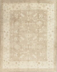 Antique Look Vegetable Dye Oushak Turkish Hand-knotted 8x10 Silver Grey Area Rug