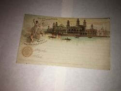 1893 Chicago World's Columbian Exposition Electrical Building Stamp Postcard