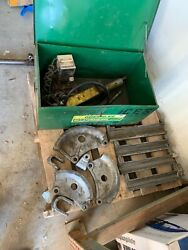 Greenlee 882 Flip-top Bender For 1-1/4 - 2 Emt With 915 Hydraulic Power Unit