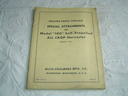 Allis Chalmers Special Attachments For 100 All Crop Harvester Parts Catalog