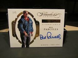 Panini Flawless On Card Autograph Giants Bill Parcells 1/5 2016
