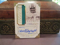 Panini Flawless Gold Autograph Jersey Dolphins Auto Paul Warfield 07/10 2014