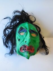 Ben Cooper Real-life Rubber Mask Witch With Hair  1978  Htf  Tags Attached