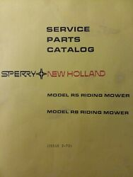 New Holland Sperry R5 R8 Rear Engine Riding Lawn Mower Tractor Parts Manual 1973