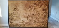 77x55 Italian German French Hand Woven Original Antique Wall Tapestry Artwork