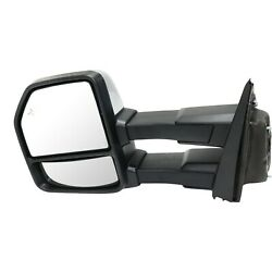 Tow Mirror For 2015 2018 Ford F150 Left Side Power Fold Heat Puddle Signal Light