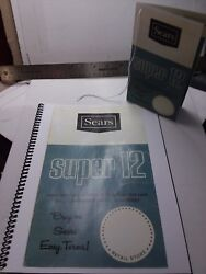 Sears Super 12 Suburban Garden Tractor 1967 Sales Hanging Tag And Enlarged Version