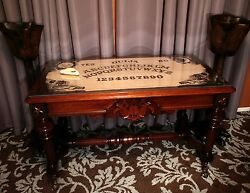 Large Ouija Board Oracle 1880s Walnut Library Table Desk & Ghost Trap HALLOWEEN!