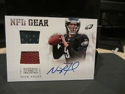National Treasures Rookie On Card Autograph Jersey Rookie Nick Foles 34/49 2012