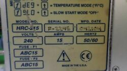 GLOBAL PLASTIC MOULDING SUPPLIES HRC-215 TEMPERATURE CONTROLLER*USED*