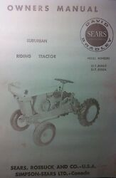Sears David Bradley 725 Garden Tractor And Engine Owner, Service And Parts 3 Manual