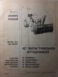 Sears Suburban 10/6 12/6 14/6 Tractor Snow Thrower Implement Owner Andparts Manual