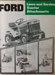 Ford Lt 75 Lgt 100 120 125 145 165 Lawn Garden Tractor Implements Sales Manual