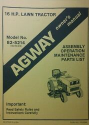 Agway Lawn Garden Tractor Owner And Parts Manual Riding Mower Mtd 700 Series