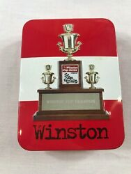 Vintage Nascar Winston Cup Champion Tin Bic Lighter In Collectible Tin