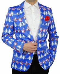 Suslo Couture Holiday Christmas Elf Blazer Sport Coat Ugly Sweater M40 And L42