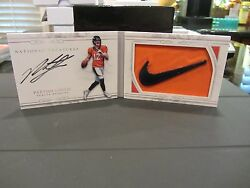 National Treasures Rookie Autograph Swoosh Booklet Broncos Paxton Lynch 2/2 2016