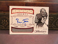Panini Flawless Ruby Autograph Jersey Greats 49ers Auto Ronnie Lott 15/15 2014