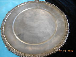 And Co. Solid Sterling Silver Plate / Tray 10.5 Round - 698 Grams