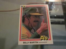 Billy Martin Signed Autographed 1981 Donruss Card-deceased