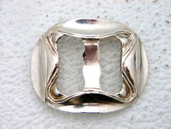 Colonial Era American Or Danish Silver Buckle Hand Wrought Marked Scb