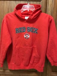 Boston Red Sox MLB MAJESTIC Pullover Hoodie Jersey Kids Youth boys size 10-12