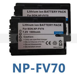 2X NP-FV50 Battery For Sony DCR-SR68SR88SX15SX21SX44SX45SX63SX65SX83