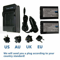 NP-FV50 Battery & Charger For Sony HDR-CX160CX190CX200CX210CX220CX230