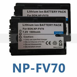 2XNP-FV50 Battery For SONY HDR XR550E XR350E CX550E CX350E CX150E DCR SR68E SX83