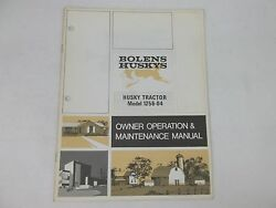 Bolens Model 1256 -04 Tractor Owners Operation And Maintenance Manual
