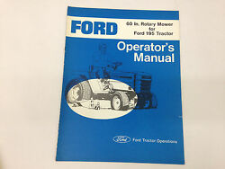 Ford Model 195 Tractor 60 Inch Rotary Mower Operators Manual