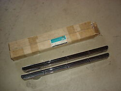 1966 66 Chevelle Super Sport Ss Nos New Old Stock Chrome Hood Inserts 3890969