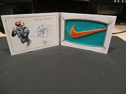 National Treasures Rookie Autograph Booklet Swoosh Dolphins Jay Ajayi 2/2 2015