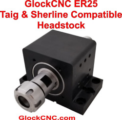 Watchmaker Lathe Headstock Er25 With Abec-9 Angular Contact Bearings