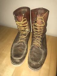 Vtg Vintage Menand039s Red Wing Irish Setter Leather Resoled Boots Size 14