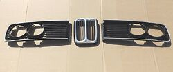 1978 Bmw 530i Center Kidney Type Grille And Trim Surround Bezels Left And Right Oem