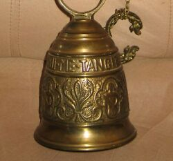 Vintage Spanish California Church Solid Brass Bell-ringing-with Angles