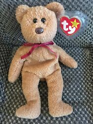 Ty ORIGINAL Beanie Baby CURLY BEAR - MINT Condition RARE Retired Tag Errors