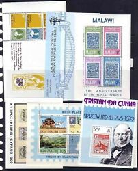 British Colonies Stamp On Stamp 29 Souvenir Sheets Stamps On Stamps 1114-gl