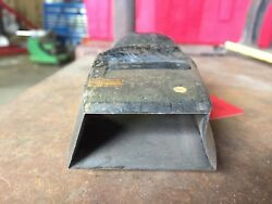 Vintage Leather Cutting Punch Tool - Very Unusual Shape 7/8 X 1 1/2 X 2